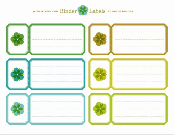 Binder Labels In A Vintage theme by Cathe Holden