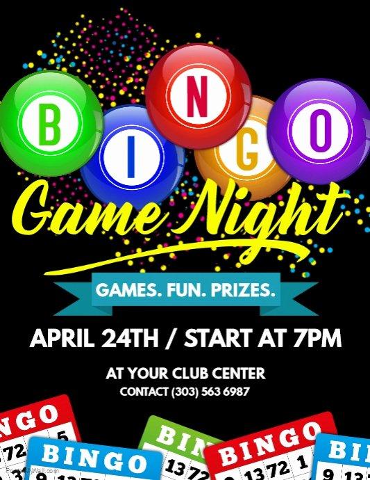 Bingo Game Night Flyer Template