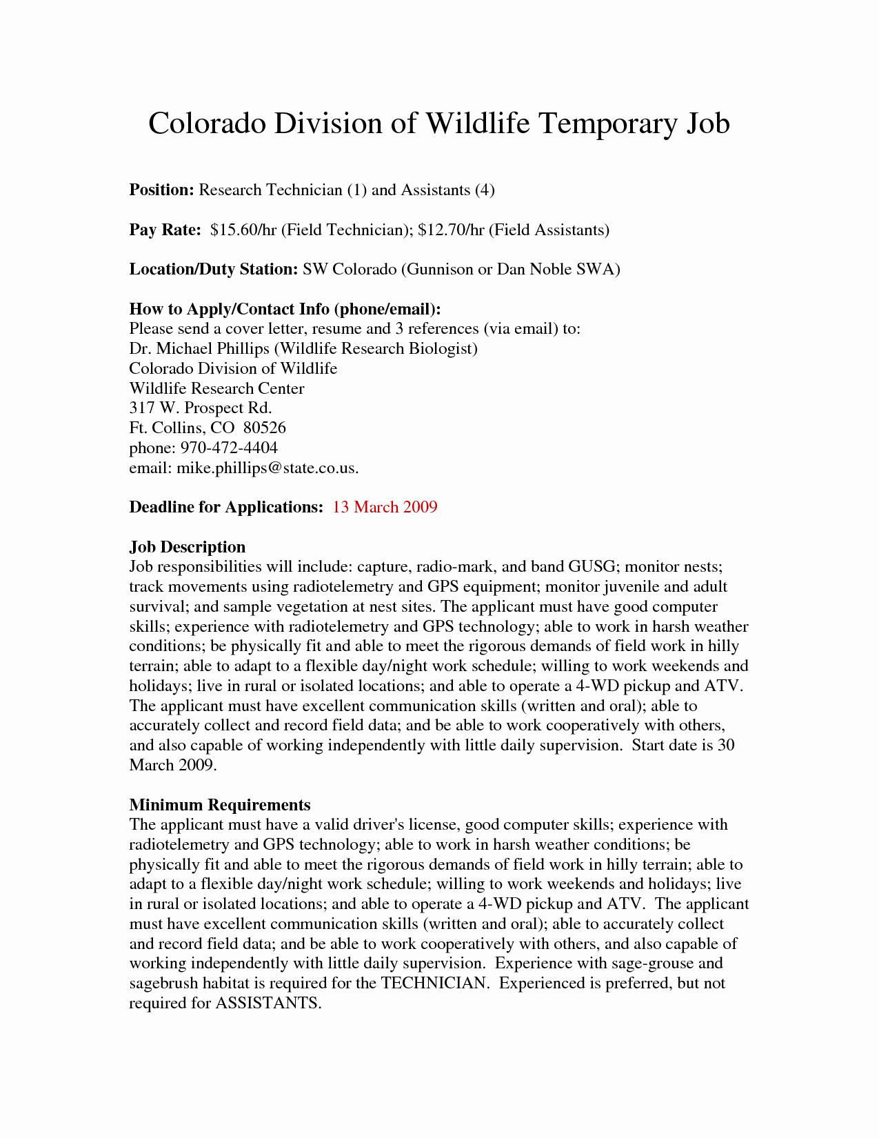 Biological Science Technician Cover Letter Fungram