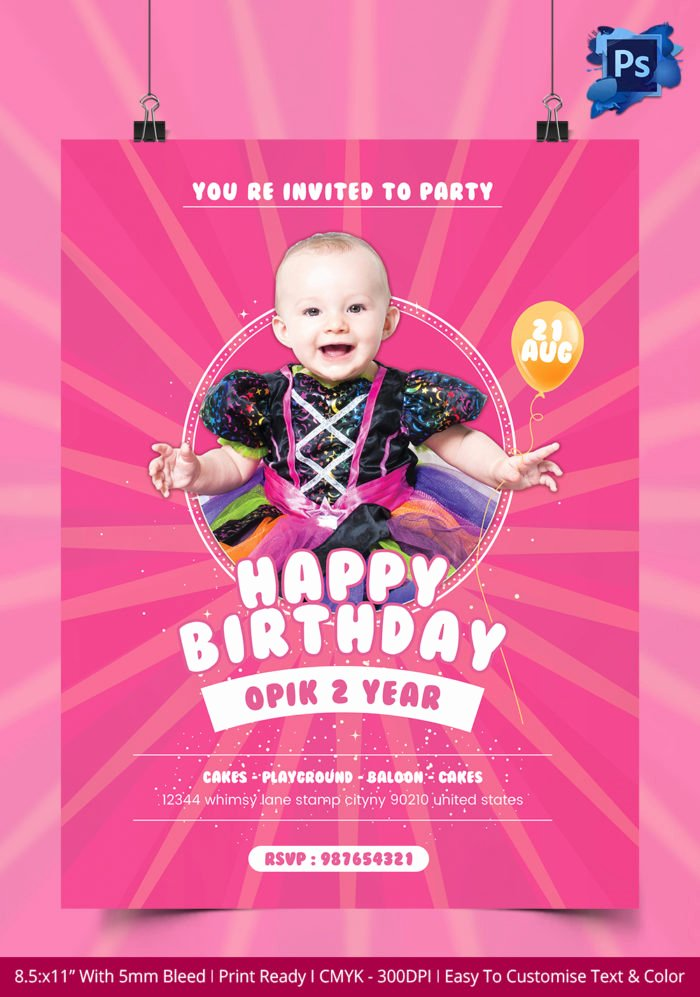 Birthday Bash Flyer Templates Free Templates Resume
