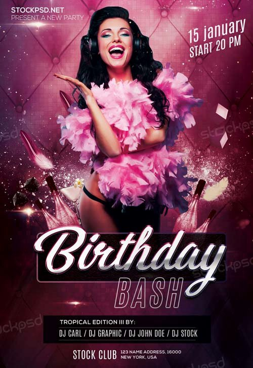 Birthday Bash Party Free Psd Flyer Template Download