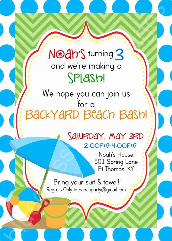 Birthday Beach Bash Let S Make A Splash Kid S Party