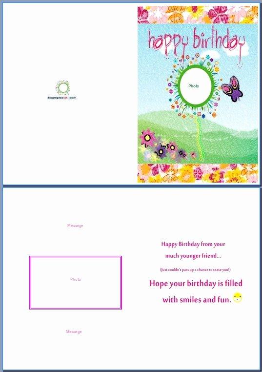 Birthday Card Template Word