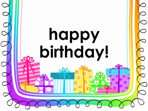 Birthday Card Ts On White Background Half Fold