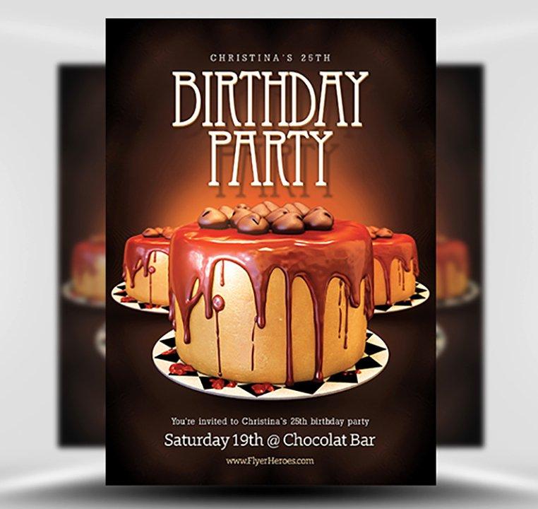 Birthday Flyer Template Flyerheroes