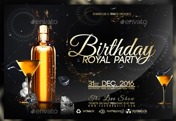 Birthday Flyer Templates – 35 Free Psd Ai Vector Eps