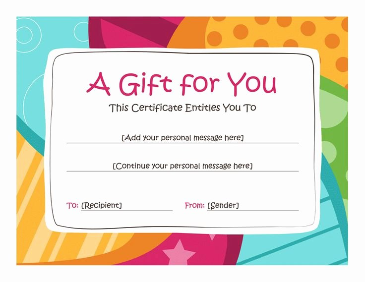 Birthday Gift Certificate Clipart Clipart Suggest