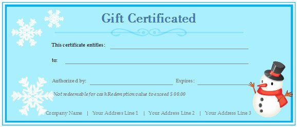Birthday Gift Certificate Template for Word Templates
