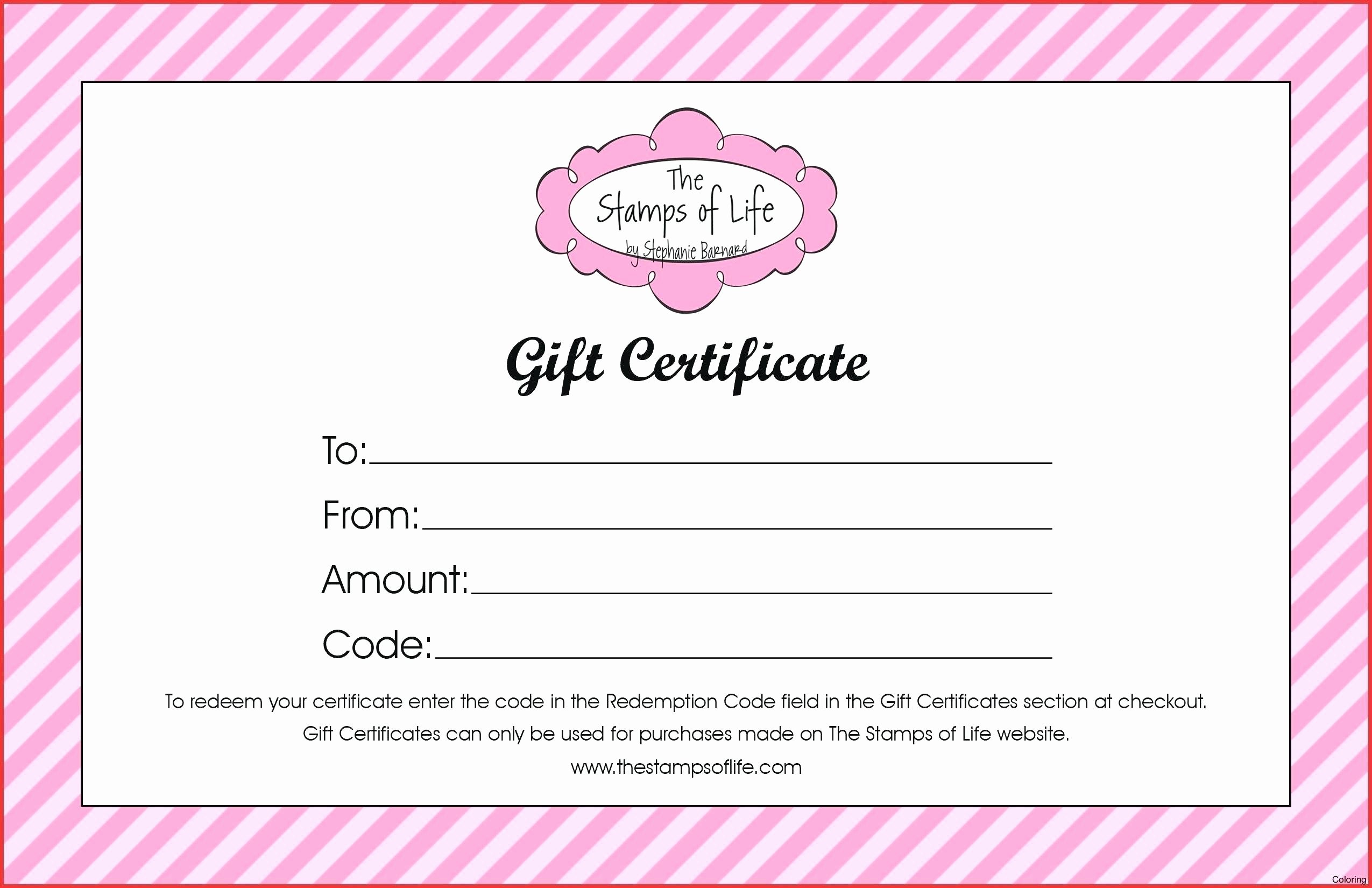 Birthday Gift Certificate Template Word Free Gift Ftempo