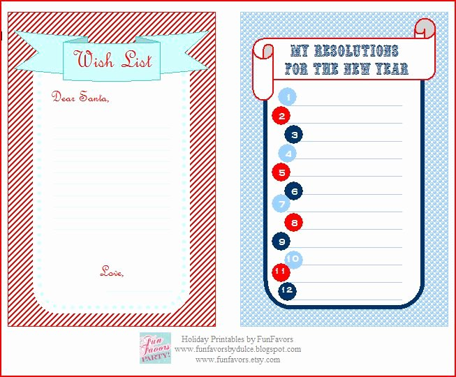 Birthday Gift Wish List form