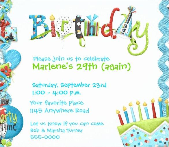 Birthday Invitation Template – 48 Free Word Pdf Psd