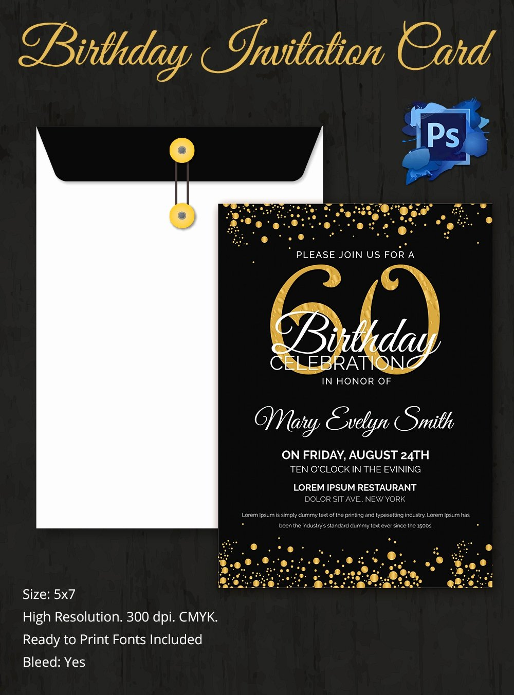 Birthday Invitation Template – 70 Free Psd format