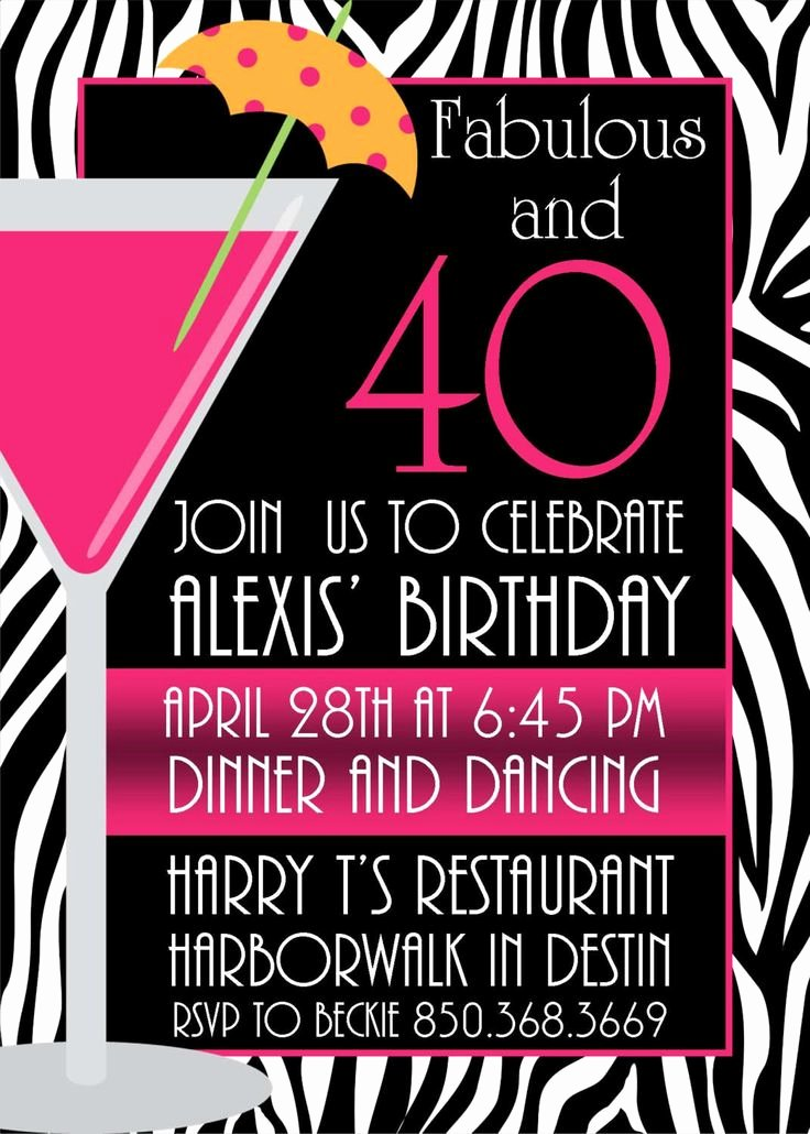 Birthday Invitation Templates 40th Birthday Invitations