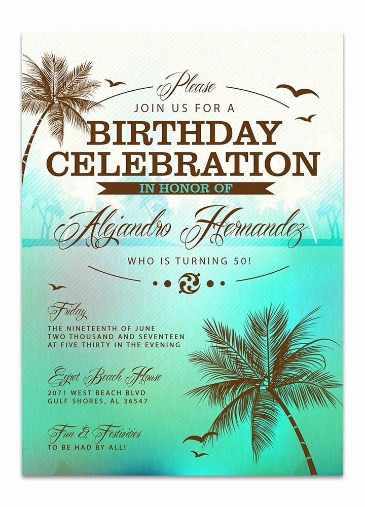 Birthday Invitation Templates Beach Birthday Invitations