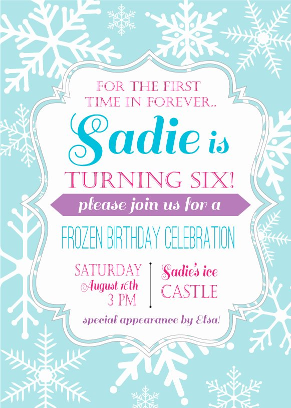 Birthday Invitation Templates Frozen Birthday Invitation
