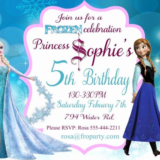 Birthday Invitation Templates Frozen Birthday Invitations