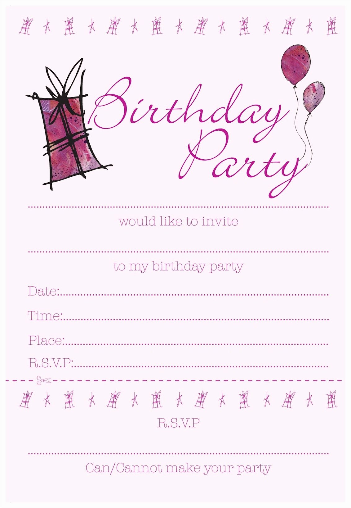 Birthday Invitation Templates Mughals