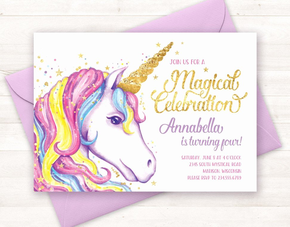 Birthday Invitation Templates Unicorn Birthday Invitations