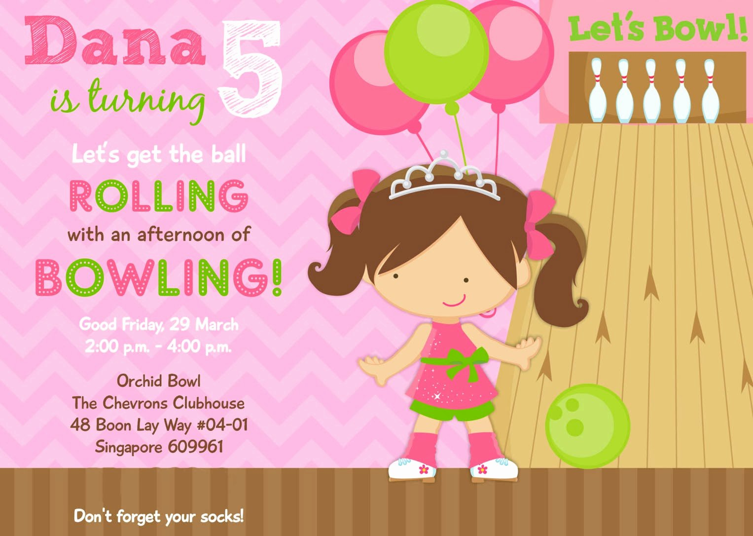 Birthday Invitations Bowling Party Invitations Templates
