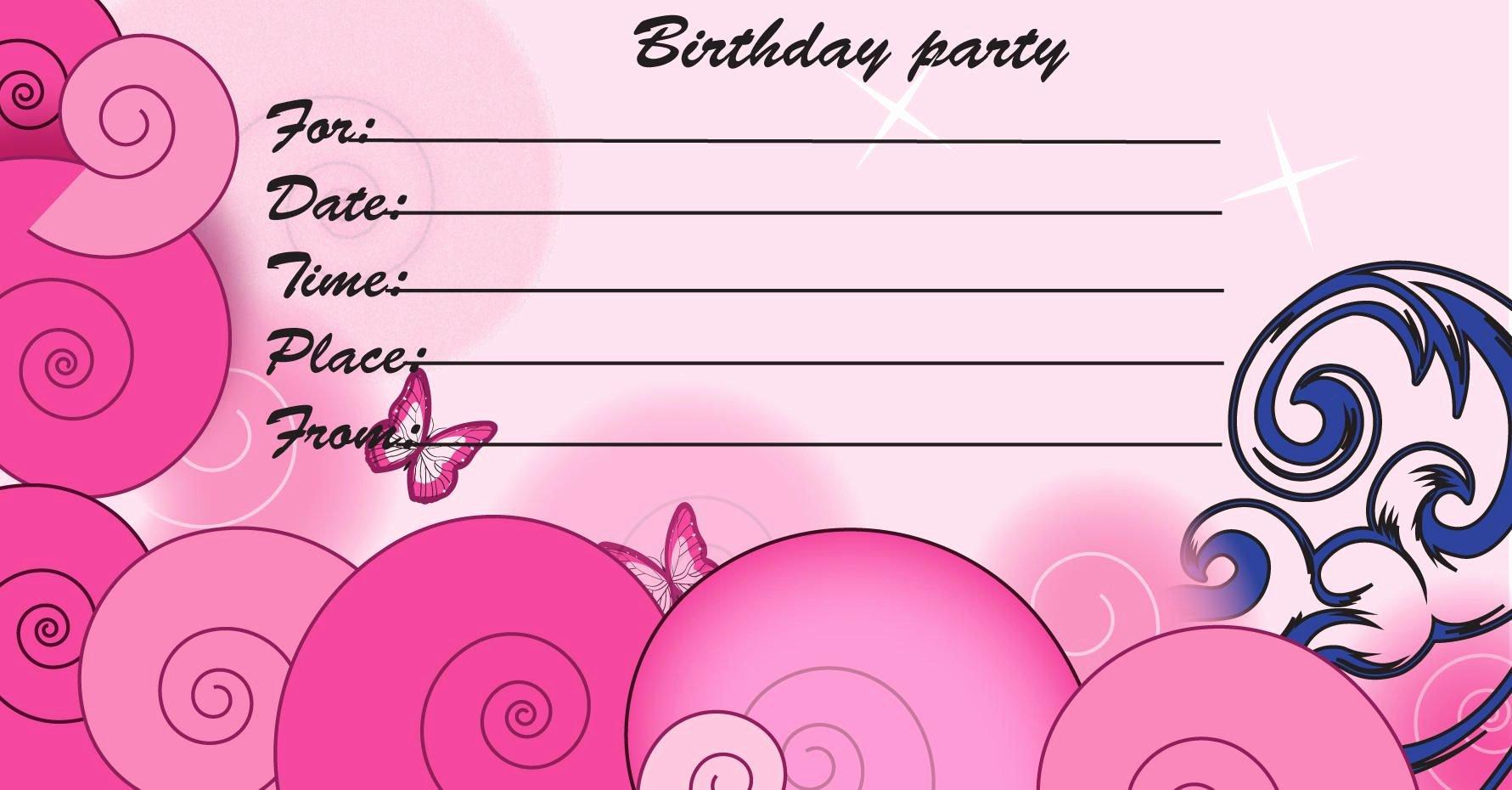 Birthday Invitations Kids Birthday Invite Template