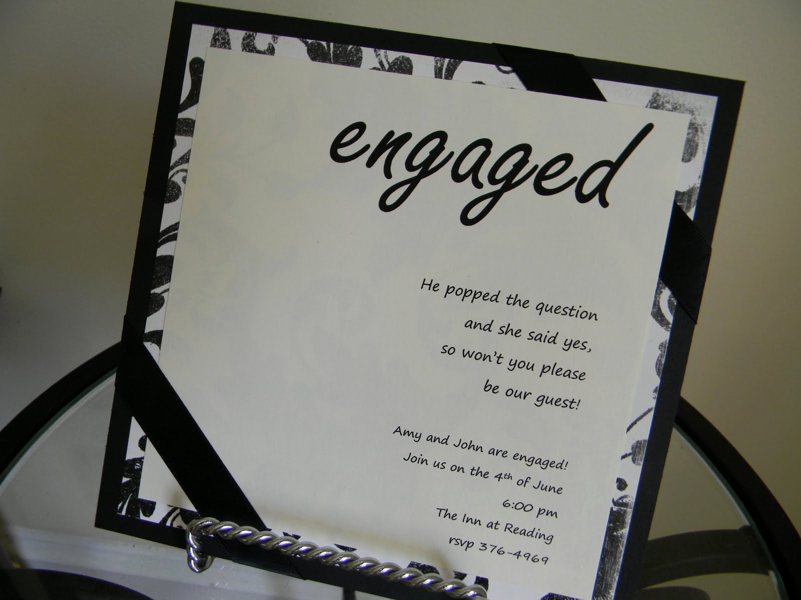 cheap engagement party invitations ideas example