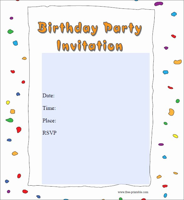 Birthday Party Invitation Email Template – orderecigsjuice