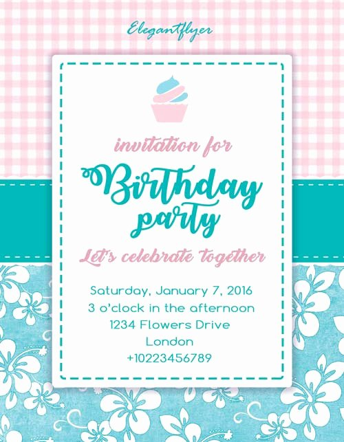 Birthday Party Invitation Free Flyer Template Download