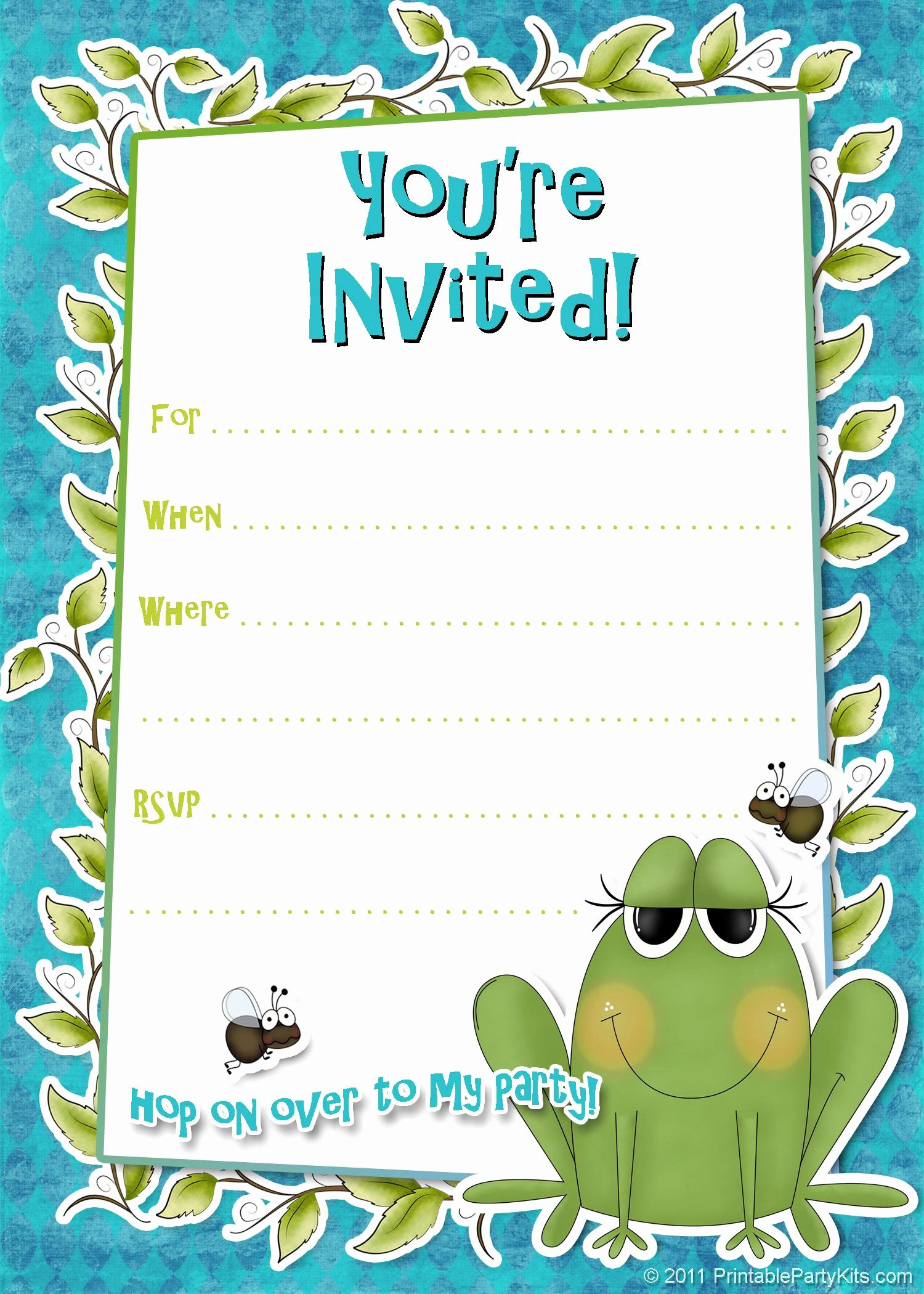 Birthday Party Invitation Template Birthday Party