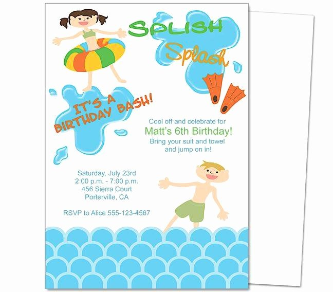 Birthday Party Invitation Template Word A Birthday Cake