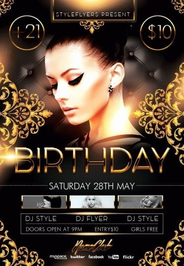 Birthday Party Psd Flyer Template 8106 Styleflyers