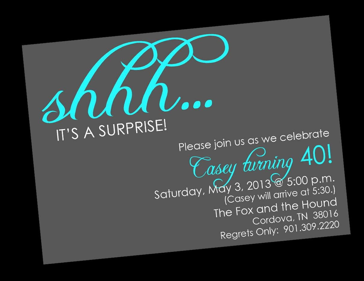 Birthday Party Surprise Birthday Invitations Card