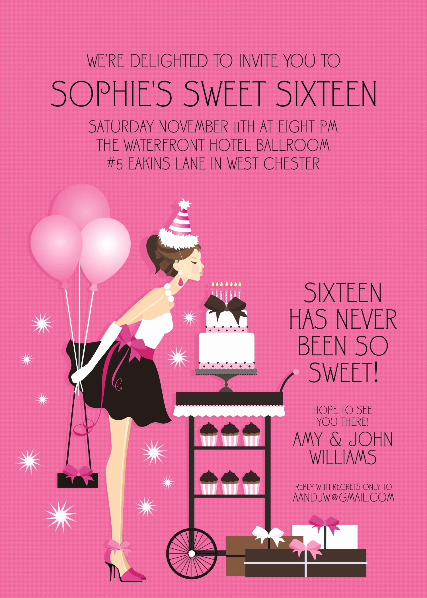 Birthday Party Sweet 16 Birthday Invitations Templates