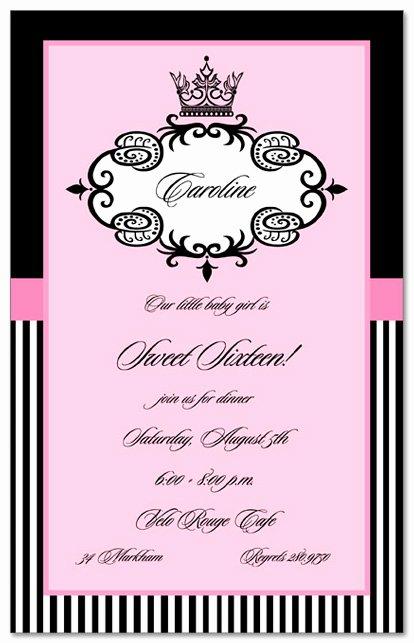 Birthday Quote Sweet 16 Invitation Cards Best Designing