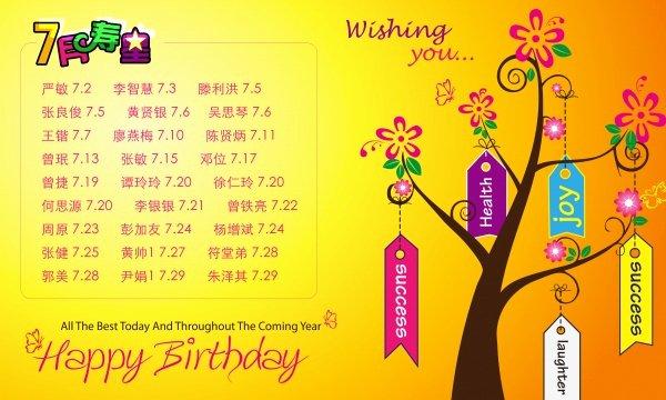 Birthday Wish Tree Psd Template Material