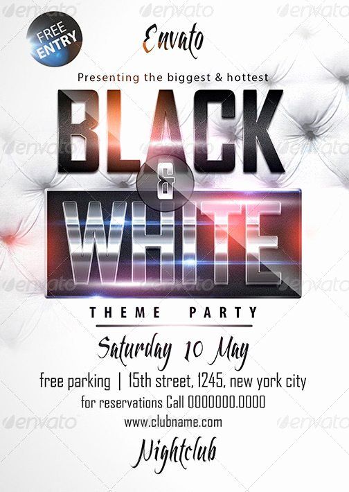 Black & White Affair Flyer Template Download Luxury