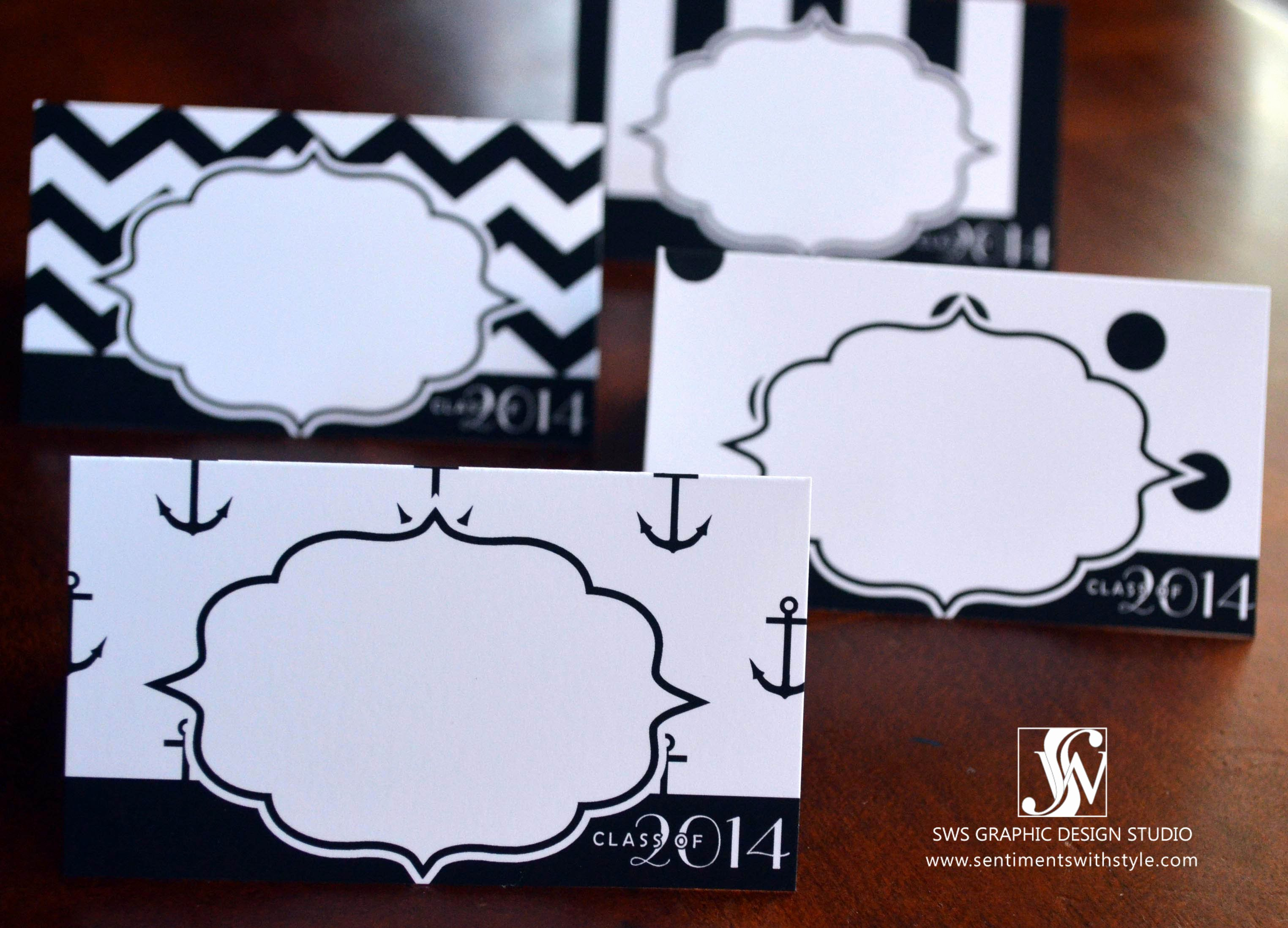 Black and White Class Of 2014 Table Tents Free Printable