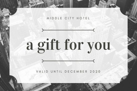 Black and White Image Hotel Gift Certificate Templates
