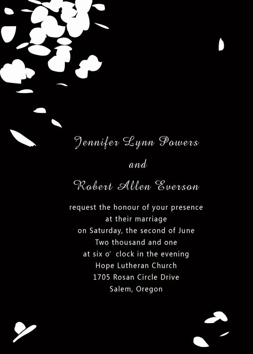 black and white invitation template