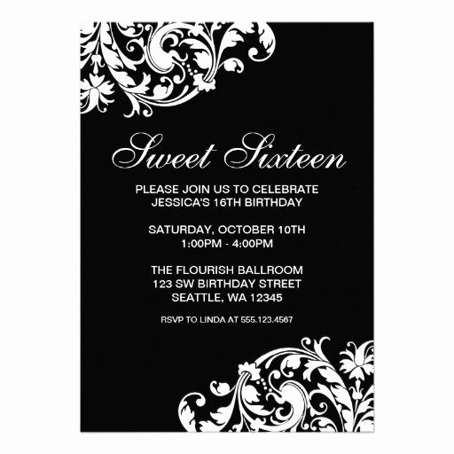 Black and White Party Invitations Templates