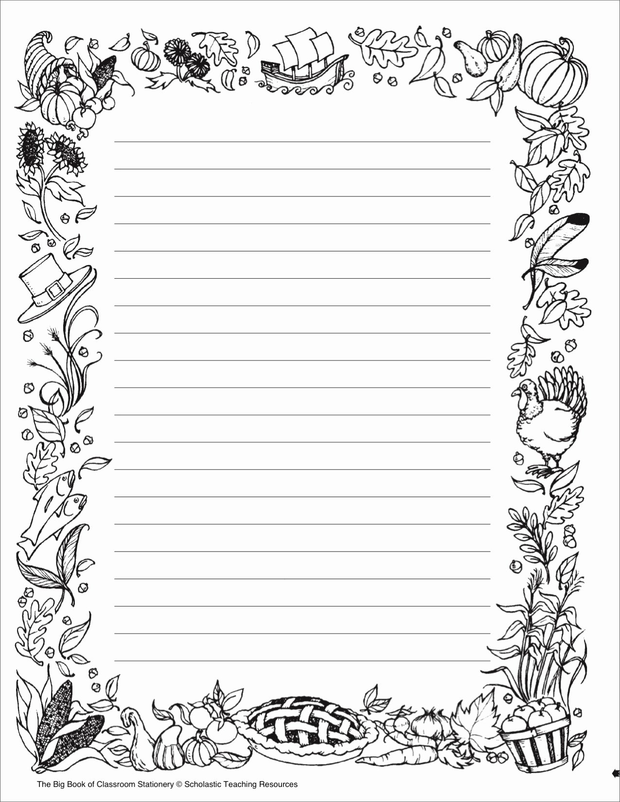 Black and White Printable Stationary Printable 360 Degree