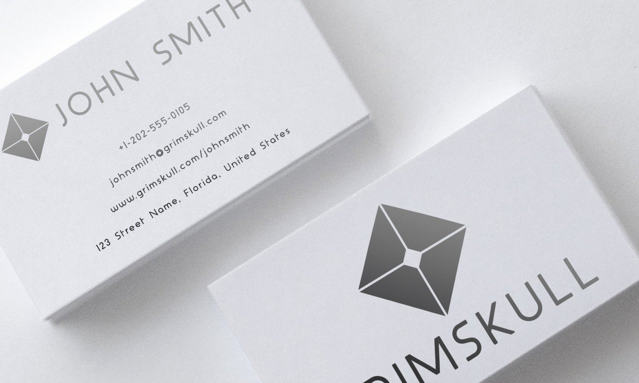 Black and White Simple Business Card Template by Nik1010