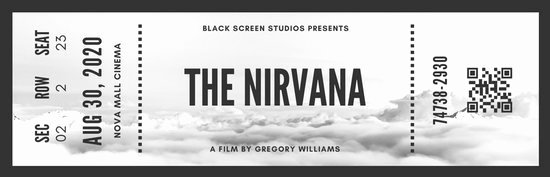 Black and White Vintage Movie Ticket Templates by Canva