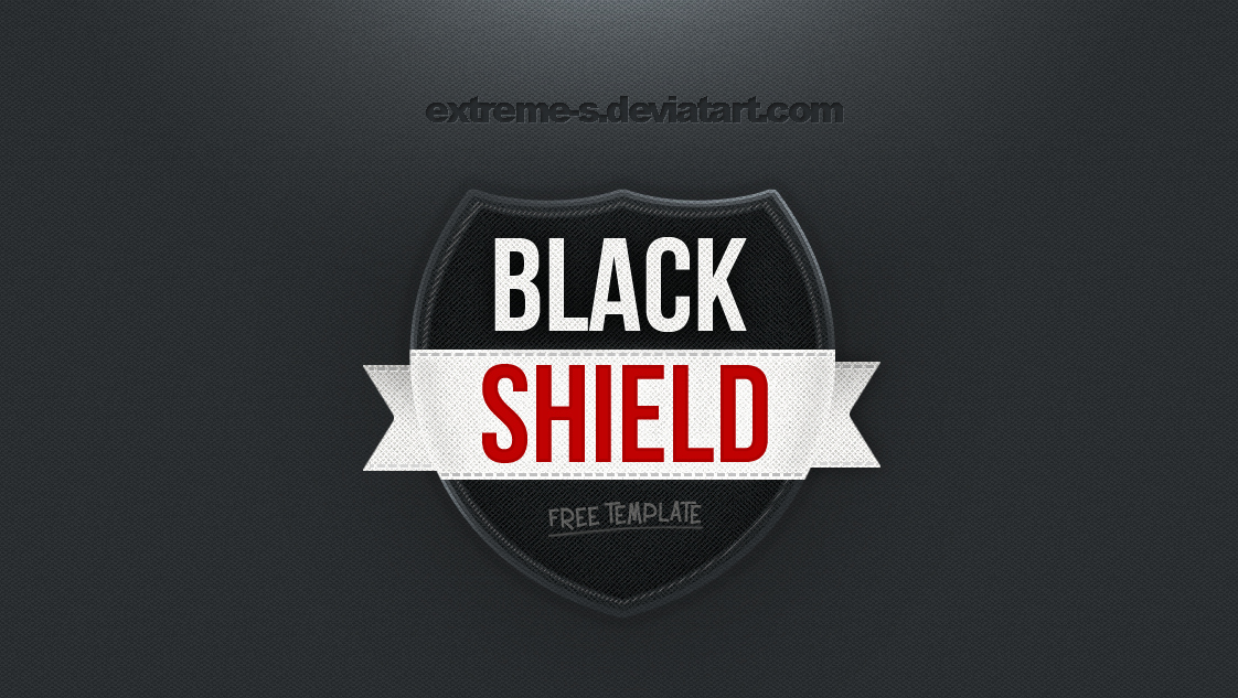Black Shield Logo Template [psd] by Extreme S On Deviantart