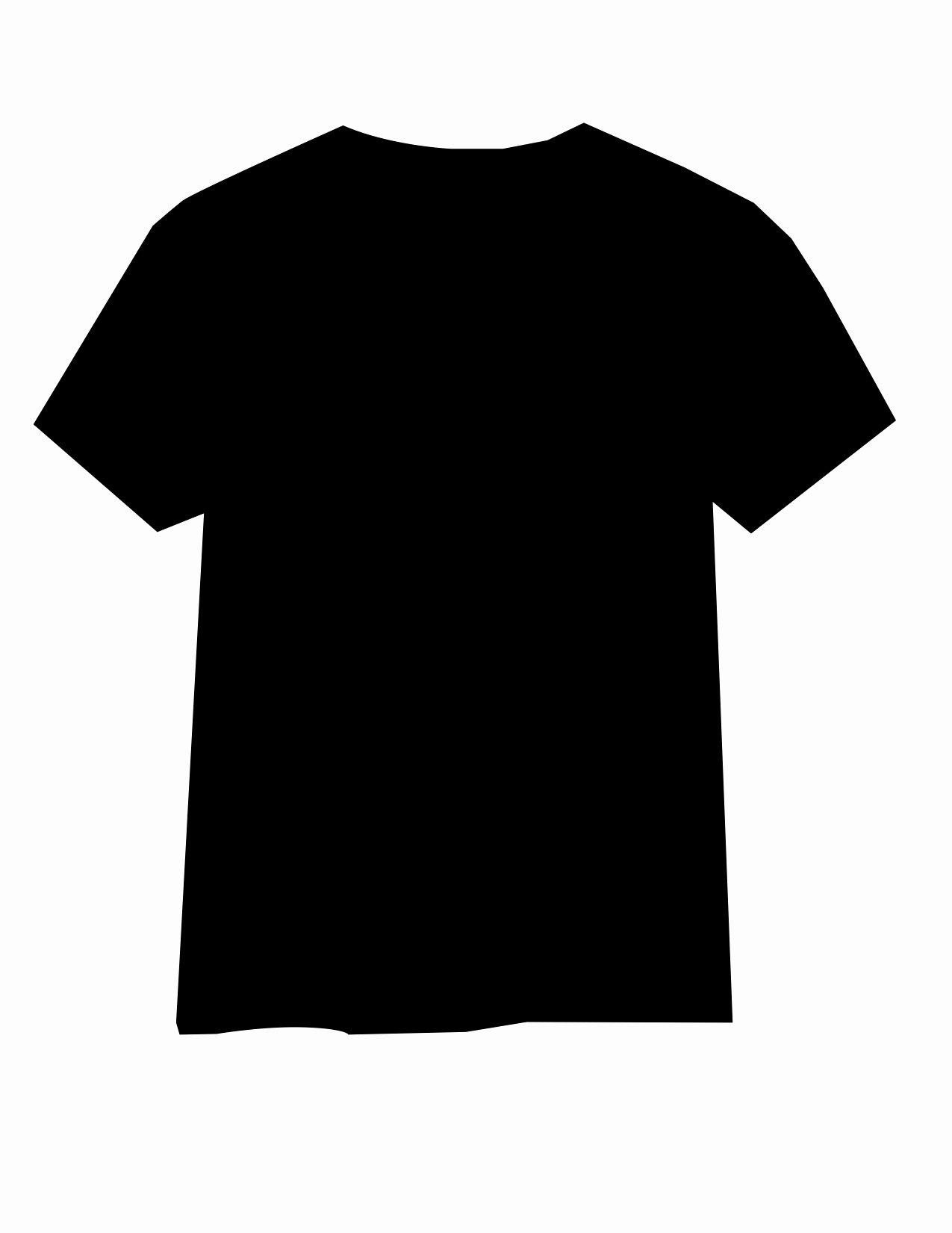 Black T Shirt Template Beautiful Template Design Ideas