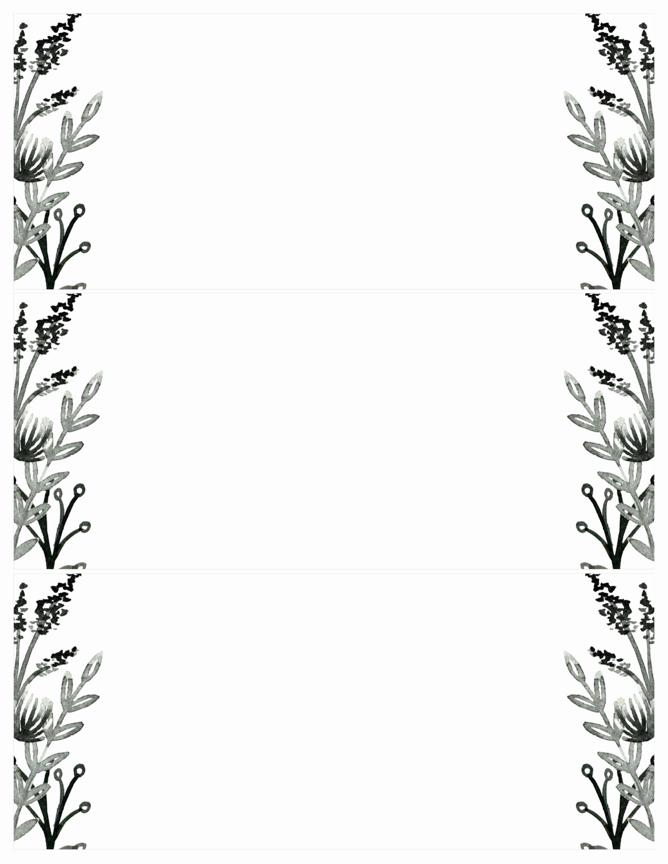Black White Flowers Invitations Templates Free Printable