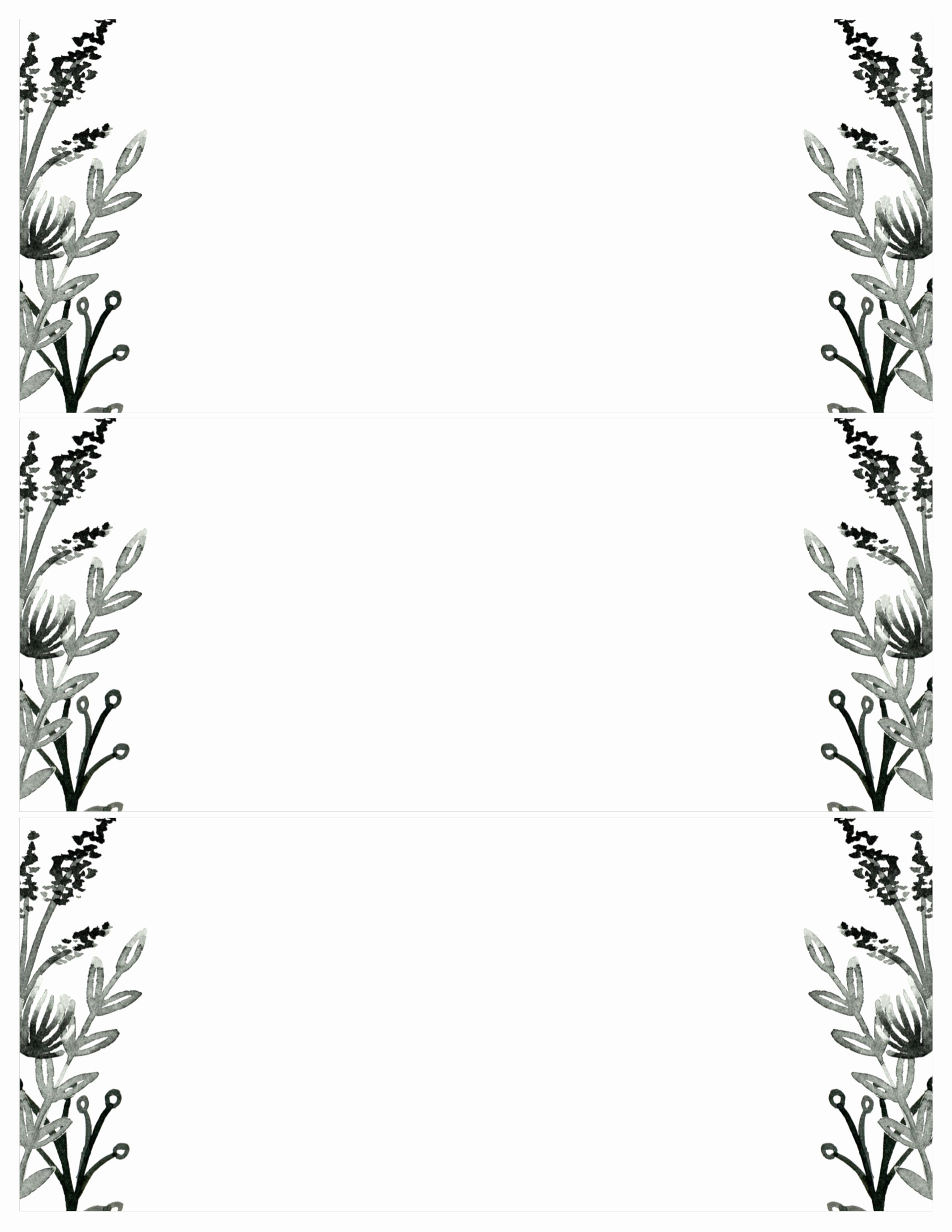 Black White Flowers Invitations Templates Free Printable Paper Trail Design