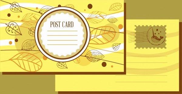 Blank Adobe Illustrator Postcard Template Free Vector