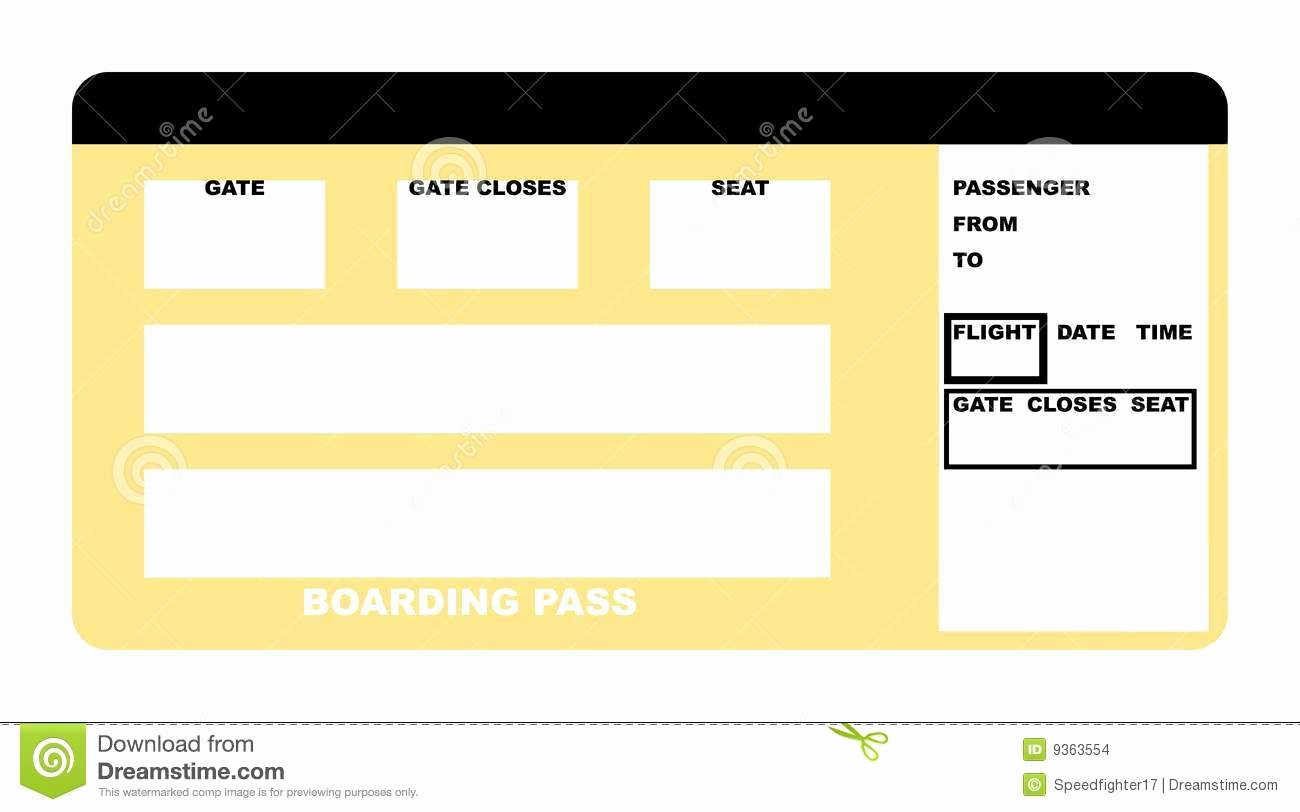 Blank Airline Boarding Pass Ticket Stock S