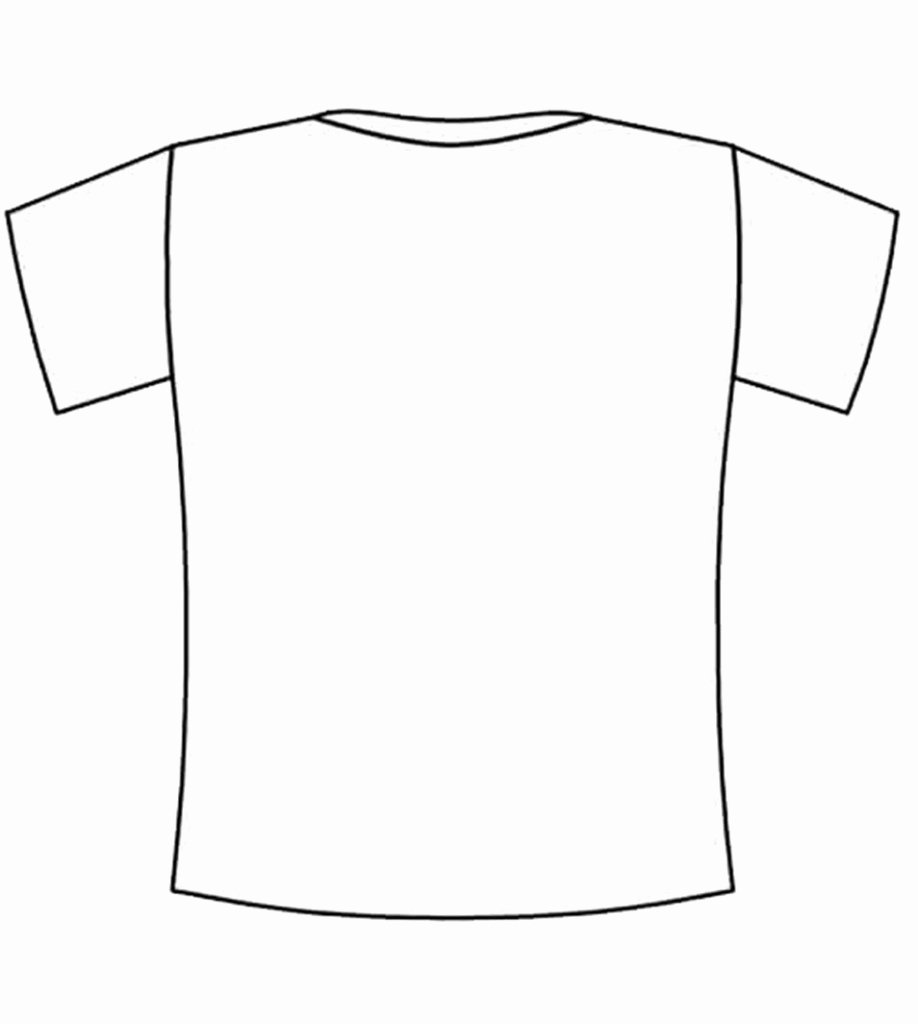 Blank Back Tshirt Coloring Squared