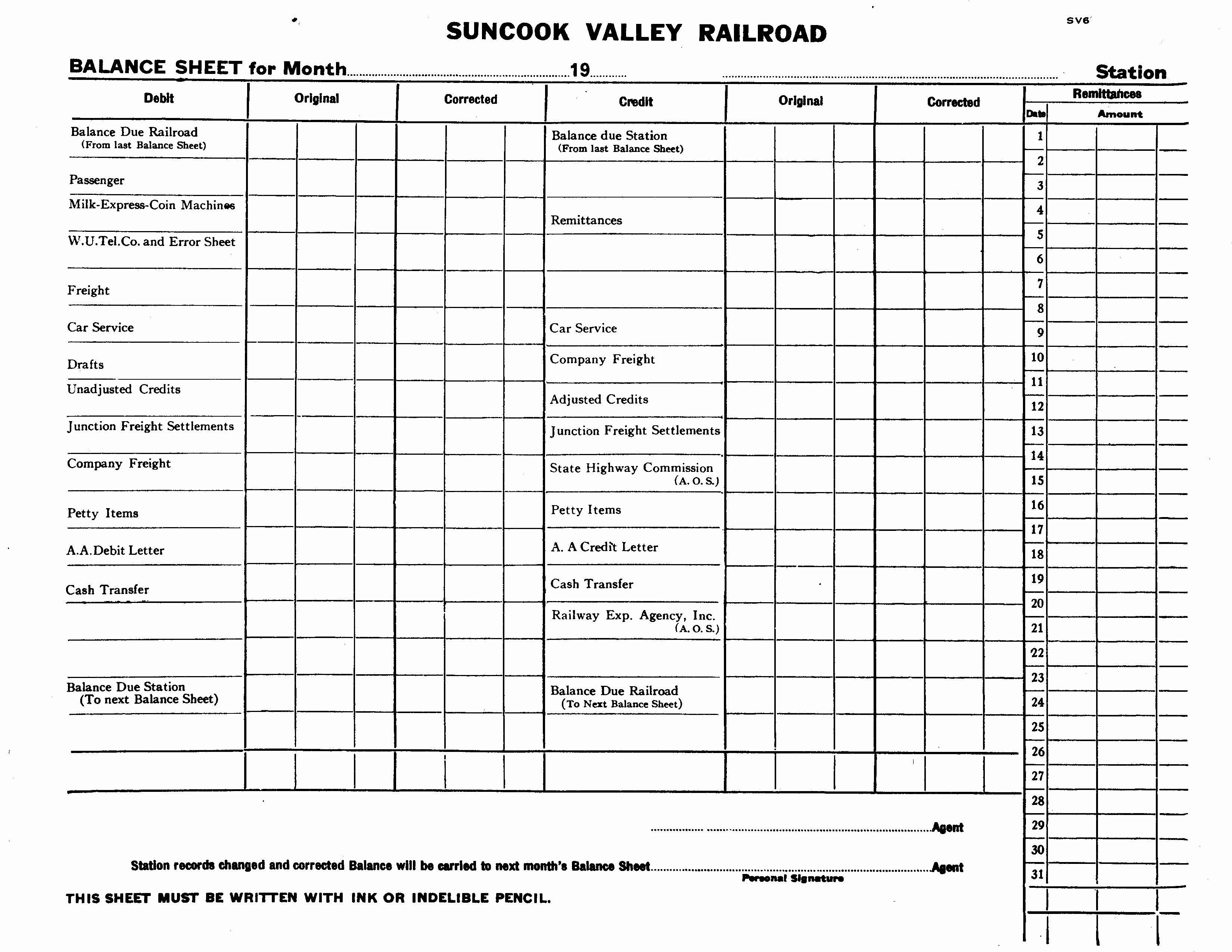 Blank Balance Sheet Example Mughals